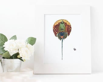 Horseshoe Crab- limited edition print from original // Home Decor // 13 x19, 11 x 14, 8 x 10