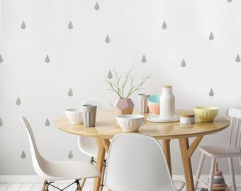 Small Modern Teardrop Decals- 45 Graphics, Vinyl Wall Graphics, Sticker, Wallpaper, Hexagons, Wall Decals- item 10048