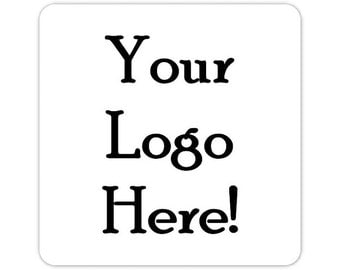 Custom Logo Labels, Custom Business Stickers, 2 inch SQUARE Logo Stickers, Your Logo, Your Image, Etsy Shop Stickers - Personalized for YOU