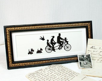Panorama Format Antique style black frame with gold boule decoration suitable for 9 x 3 inch panoramic print