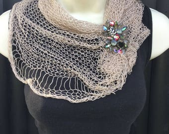 loose knit,  neck wrap, light weight scarf,summer scarf
