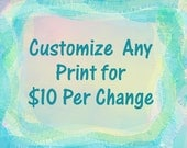 Custom Change Any Print To Match You Or Your Color Scheme Change Hair Color Background Body Cloths  Hair Style Leslie Allen Fine Art