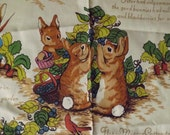 1976 Riverdale Peter Rabbit print drape - charity for animals