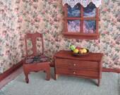 "Antique German Dollhouse Furniture - Accent Pieces -  1"" Scale"