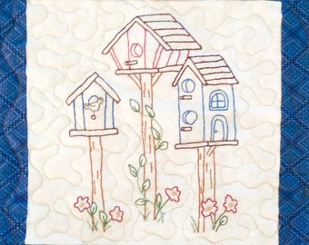 Early Bird for Seasons embroidery quilt Pattern