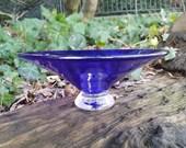Cobalt Blue Blown Glass D...