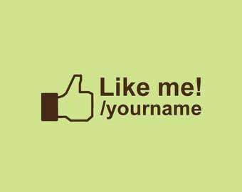 Custom Rubber Stamp   Custom Stamp   Personalized Stamp   Facebook Logo Stamp   Like Me on Facebook Stamp   Find me on Fcebook Stamp   C416