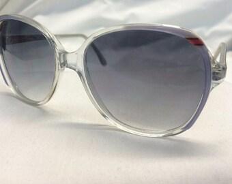 Oversize Sunglasses, Retro Sunglasses 1970s Deadstock Gray Gradient Sunglasses with Hombre Lens, New Old Stock Sunglasses
