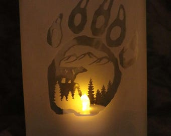 Bear Paw Moutain Candle holder or Vase