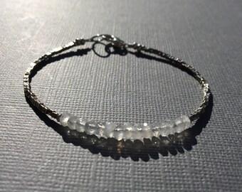 Moonstone Layering Bracelet- Gemstone- Minimalist- Simple- Layering Bracelet