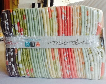 Fat Quarter Bundle RARE Mirabelle Fig Tree Quilts Out of Print Coral Aqua piecesofpine