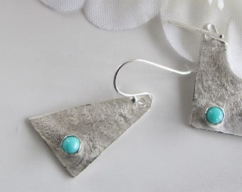 Dangle Earrings, Turquoise Gemstone & Sterling Jewelry: December Birthstone