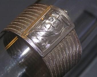 "WIDE 900  Silver Bracelet - Trabazon Turkish Hand Woven Mesh Bangle jewelry ~ 1"" W"