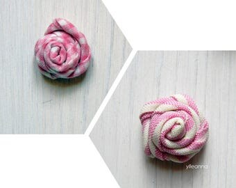 Men lapel pin. Lapel flower stick pin. Boutonniere. Stripes or checks. Pink buttonhole.