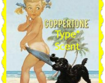 COPPERTONE TANNiNG LOTION Soy Wax Melts Tarts - Duplication Type* Scent - Wickless Candle Air Freshener - Highly Scented - Handmade In USA
