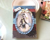 Handmade Baby Boy Card - Vintage-look Baby Boy Card