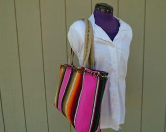 Mexican Serape Tote Shoulder Bag