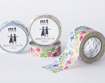 mt Washi Masking Tape - Alma in Pink or Blue - Bengt & Lotta