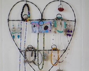 Jewelry Display, Photo holder, Wire Heart