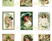 Vintage St Patricks Day, Instant Download, Digital Art Printable, Reproduction