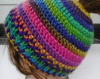 Teen/Adult Messy Bun, Ponytail Hat, Ready to ship