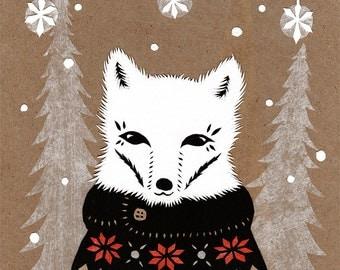 Original Winter Fox Papercutting