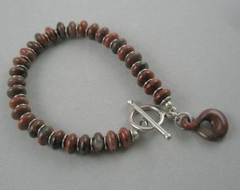 Jasper and Sterling Silver Bracelet
