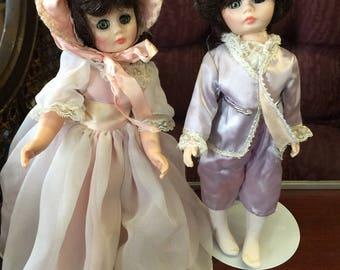 Madam Alex Pinkie and Blue Boy dolls.