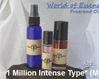 100% Pure Perfume Fragrance Body Oil- 1 Million Intense Type* (M)