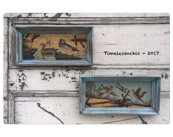 Duck Art - Vintage Duck Art - Quail Art - Vintage Quail Art - Mallard Ducks - Burlap Art - Vintage Burlap Art - Bird Art - Vintage Bird Art
