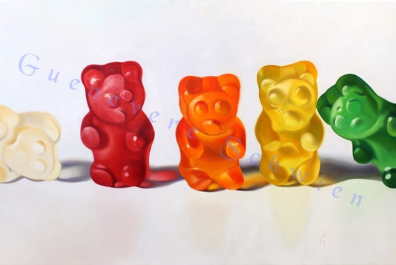 "Archival Print of ""Gummy Bears"" Candy Painting"