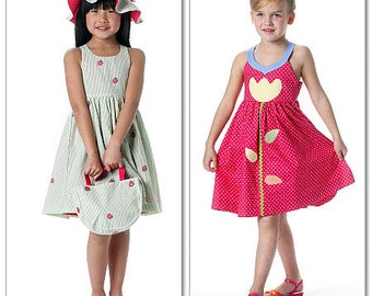 Girls' Sun Dresses - McCalls 6310 - Out-of-Print Sewing Pattern, Sizes 4, 5, and 6