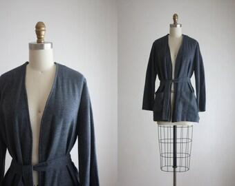 dusk blue wrap jacket