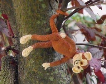 50% OFF SALE Instant Digital File pdf download knitting pattern-madmonkeyknits  sunny the spider monkey amigurumi toy pdf knitting pattern