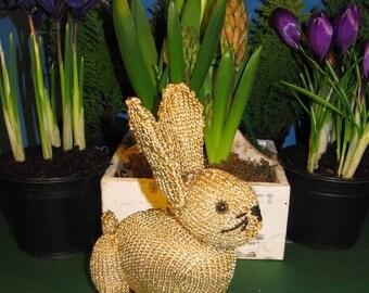 50% OFF SALE Instant Digital File PDF Download Golden Bunny Rabbit  Toy knitting pattern pdf