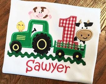 Farm Birthday,Boys Farm Birthday,Barn Shirt, Barnyard Birthday, Farm and Friends Birthday