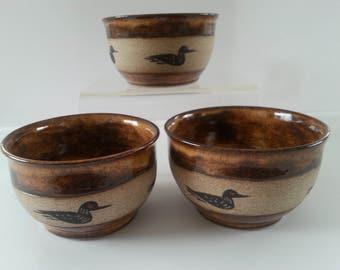 "Adirondack Style Loon bowl 3""H x 5""W"