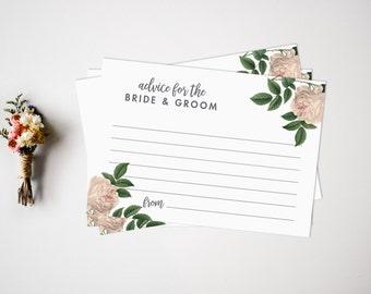 Advice Cards // Wedding Advice Cards // Wedding Guest Book // Guest Book Alternative // Advice for the newlyweds // Wedding Keepsake