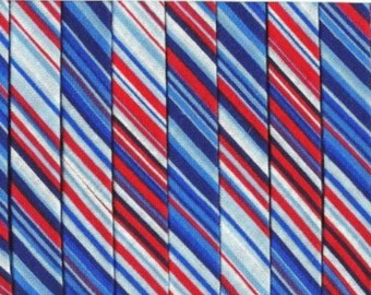Double Fold Bias Tape - Red, White and Blue Stripe