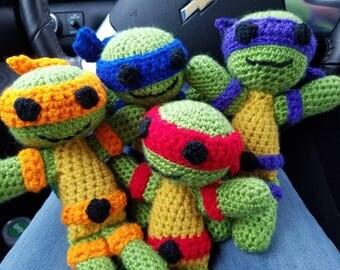 Ninja Turtle Inspired Action Figures Set of 4