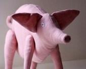 Big pink pig. Soft sculpture