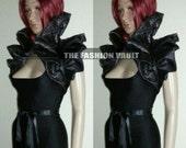 Sample sale Anime Cosplay Goth Wedding High Drama Burlesque Shiny Collar Bolero shoulder wrap
