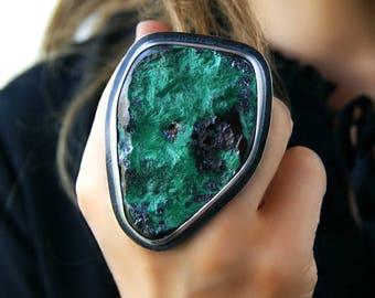 Rolling Green Fields - Malachite Sterling Silver Ring