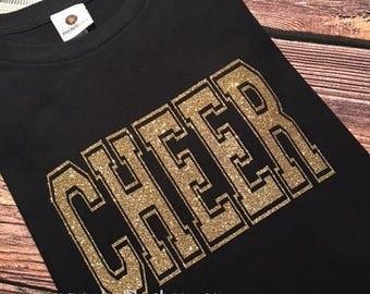 Cheer Shirt - Youth Cheer Shirt - Cheer tee - I love to Cheer Shirt - Cheerleader Shirt