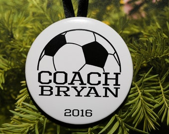 Soccer COACH Christmas Ornament - personalized - coach gift - sports - C187