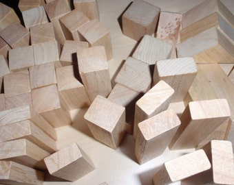 Assortment of 53 Craft Birch Unfinished Wood Pieces