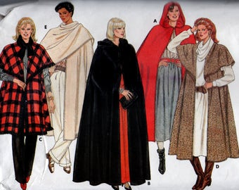 Butterick 6796 Vintage Misses Cape Flared Unlined Cape 5 Design   New - Uncut All Sizes Small to Large