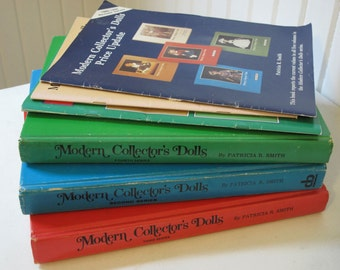 Lot of 6 Modern Collector's Dolls Series Reference Books & Updates by Patricia R Smith  C1976