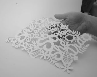 gift tags. PAPER CUTTING