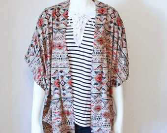 Tribal Print Sweater, Knit Chunky Cardigan, Cardigan Sweater, Womens Sweaters, Womens Cardignas, Knit Sweater, Slouch Cardigan